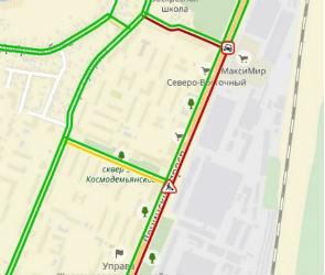 Из-за дорожных работ и ДТП на Ленинском проспекте образовалась огромная пробка