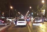 Появились фото и видео массового ДТП в центре Воронежа: BMW протаранил 5 машин