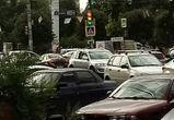 «Взбесившийся» светофор спровоцировал пробку на Московском проспекте