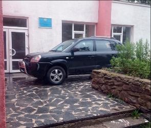 Воронежцев возмутила наглая парковка водителя Hyundai возле детсткой поликлиники