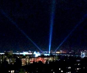 Стало известно происхождение странных светящихся лучей над Воронежем