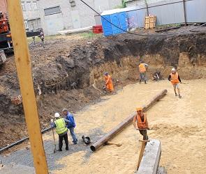 Строители разрыли «культурный слой» в центре Воронежа