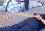 В Воронеже полицейские сняли видео ареста с поличным банды воров-домушников