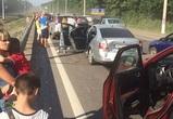 Из-за ДТП с 5 машинами на выезде из Воронежа образовалась пробка в 1,5 км
