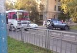 В Воронеже маршрутный «ПАЗик» столкнулся с «Нивой» - опубликованы фото и видео