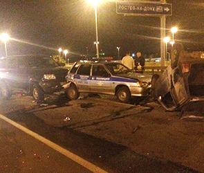 ДТП с пьяным воронежцем на УАЗе, сбившим трех сотрудников ГИБДД, сняли на видео