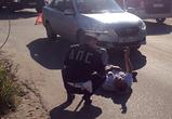 Появились фото ДТП в северном районе Воронежа: автомобилистка сбила пешехода