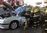 Опубликованы фото ДТП в Нововоронеже: водитель Пежо погиб, врезавшись в ПАЗ