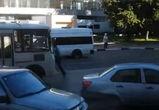 В Воронеже сняли на видео пешехода, бросающегося под колеса автобуса