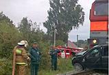 На станции Тресвятская под Воронежем столкнулись автомобиль и грузовой поезд
