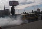 Воронежцы сняли на видео мчащийся по городу дымящийся ПАЗ