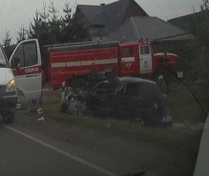 Опубликованы фото страшного ДТП с пострадавшими под Воронежем