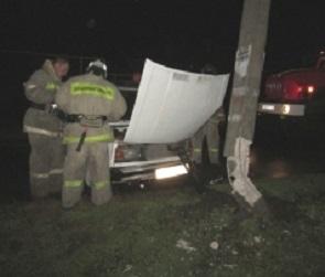 В Воронежской области ВАЗ сбил пешехода и врезался в столб: водитель погиб