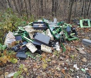 В лесу под Воронежем ликвидировали «кладбище» банкоматов