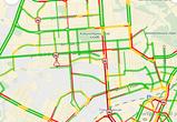 Из-за аварий Московский проспект в Воронеже парализован гигантской пробкой