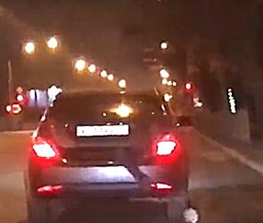 В Воронеже сняли на видео водителя-хулигана, возившего человека в багажнике