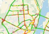 Утром понедельника пробки в Воронеже достигли 8 баллов