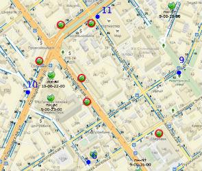 Карта платных парковок в центре Воронежа появилась в Сети
