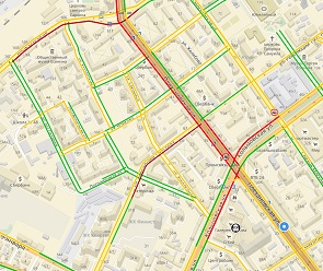 Из-за ДТП в центре Воронежа образовалась 2,5-километровая пробка