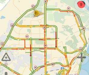 Воронеж стоит в 9-балльных пробках