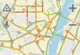 8-балльные пробки парализовали движение в Воронеже
