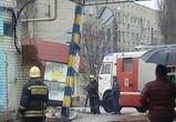 В Воронеже фура протаранила столб и повредила газопровод