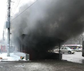 В Воронеже загорелся подземный переход у Политехнического института