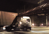 На левом берегу Воронежа столкнулись фура и поезд: подробности и фото ДТП