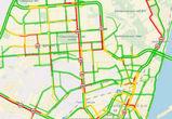 Из-за четырех подряд ДТП парализовано движение на Московском проспекте