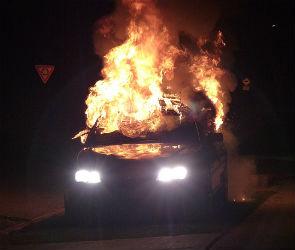 Рано утром в Воронеже сгорели три иномарки