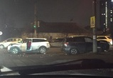 В Воронеже две автомобилистки не поделили дорогу, момент ДТП попал на видео