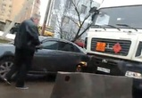 В Воронеже грузовик с пропаном врезался в легковушку