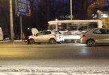 В массовой аварии на Ленинском проспекте в Воронеже пострадала молодая девушка
