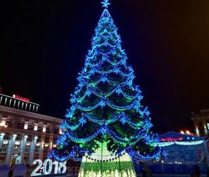 В Воронеже с площади Ленина убирают главную елку и все новогодние конструкции