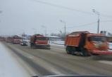 Воронежцы сняли на видео «парад снегоуборщиков»