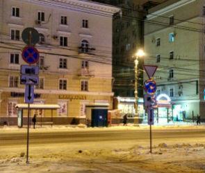 У Дома офицеров в Воронеже появились новые дорожные знаки