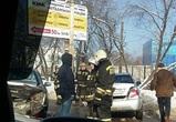 В Воронеже на улице Лебедева столкнулись 4 машины: есть пострадавшие