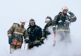 Пожар на хладокомбинате в Воронеже