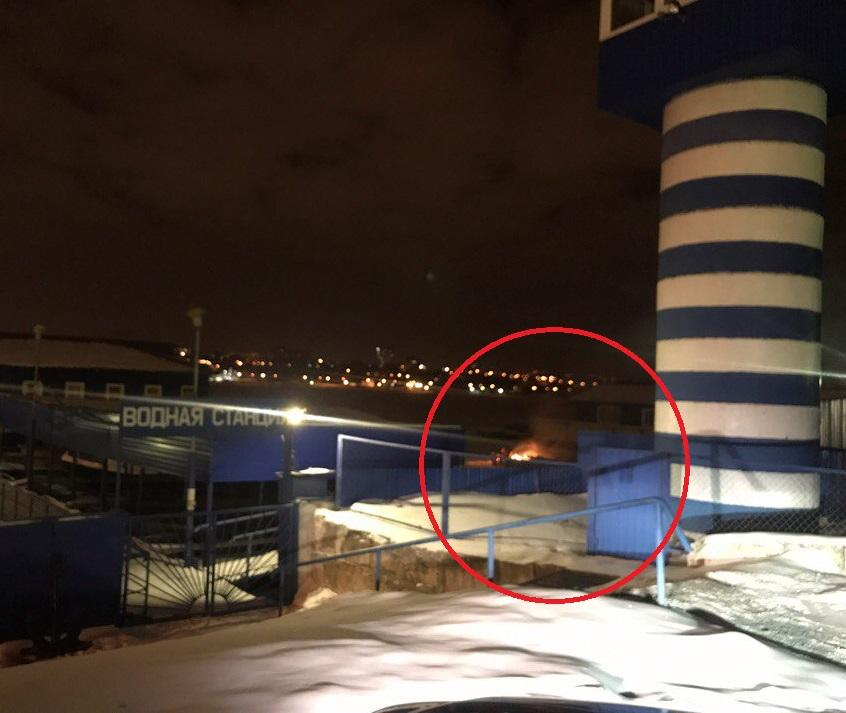 В Воронеже на водной станции сгорели лодки