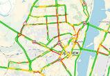 Сильный снег и аварии спровоцировали в Воронеже протяженные пробки