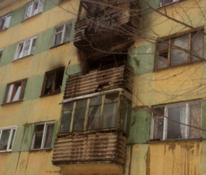 В Воронеже на левом берегу страшный пожар уничтожил квартиру - фото, видео