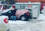 Очень «грустному» воронежцу испортили машину краской