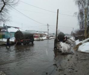 Из-за потепления в Воронеже сильно затопило две улицы (фото)