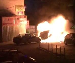 В Воронеже возле храма взорвалось авто, последствия попали на видео и фото
