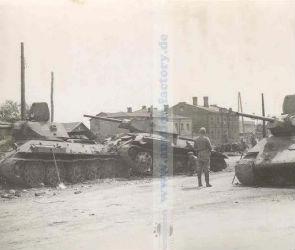 Фотография подбитых танков в центре Воронежа впечатлила горожан