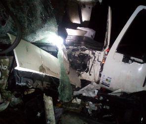Под Воронежем в столкновении двух грузовиков пострадал водитель
