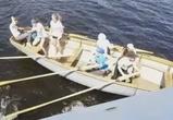 На видео попал момент столкновения теплохода и лодки с 7 детьми в Воронеже
