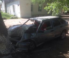 В Воронеже молодая автомобилистка на ВАЗе протаранила дерево