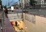 Со стены парковки воронежского отеля Marriott рухнула плитка