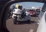 В Воронеже сфотографировали гибрид мотоцикла и автомобиля